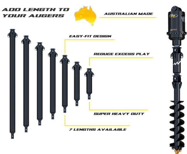 Where to find Digga X0 XT100 Auger Extensions Up to 30T Machines in Geelong