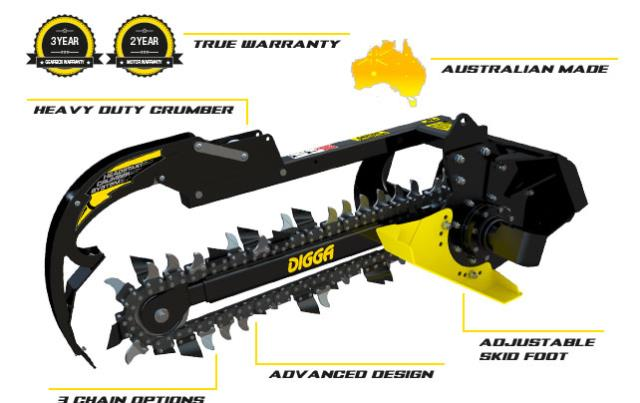 Where to find Digga Trencher Mini Bigfoot - Machines 500kg-1.5T in Geelong