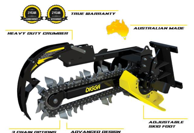 Where to find Digga Trencher Bigfoot XD- Machines Up To 8T in Geelong
