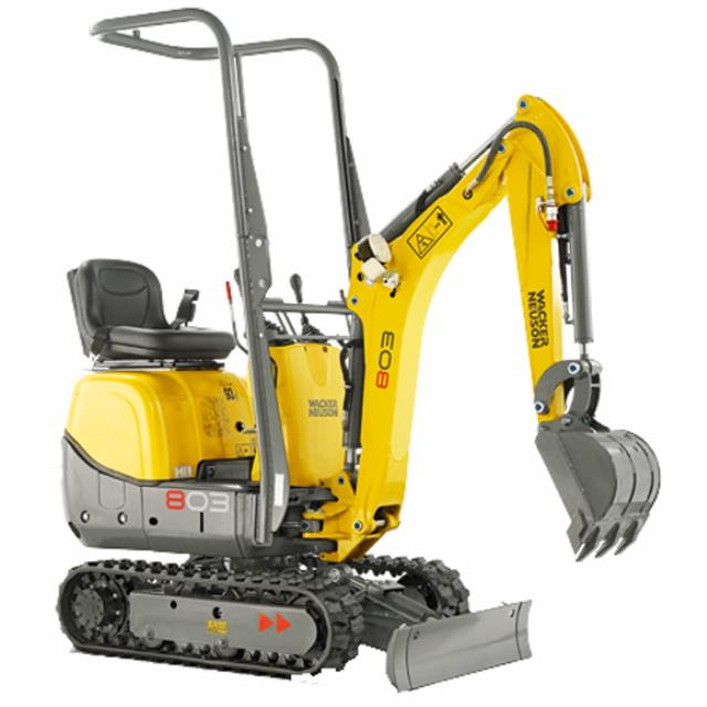 Where to find Excavator 0.8t Wacker Neuson in Geelong