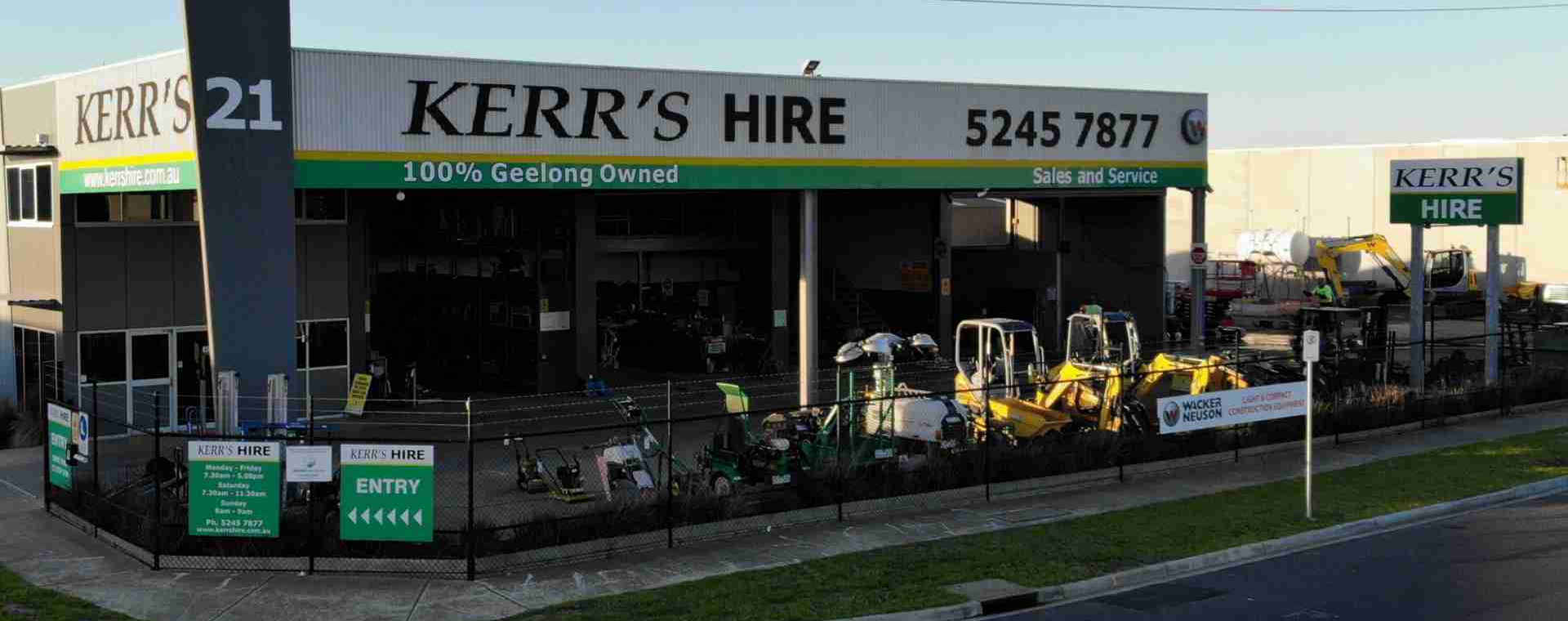 Construction Hire in Geelong